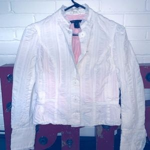 Marc Jacobs linen and lace Jacket.  Beautiful!